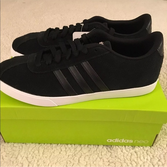 reputable site 4cd06 fa21a ADIDAS Womens NEO Courtset Sneaker. BlackBlack
